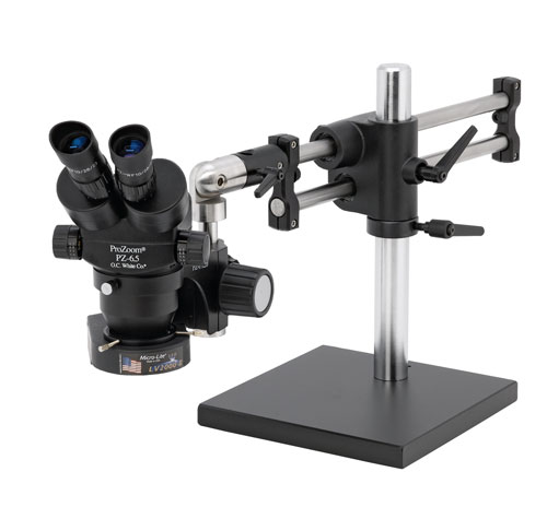 "ProZoom® 6.5 Stereo-Zoom Microscope - 16"" Tall Ball Bearing Base"